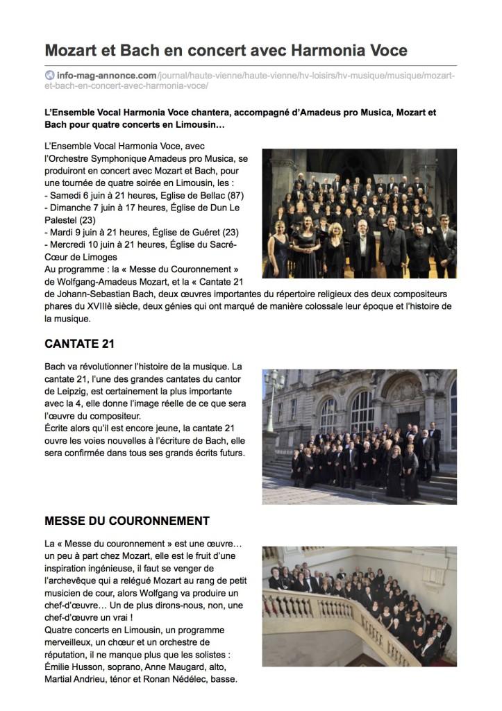 info-mag-annonce.com-Mozart et Bach en concert avec Harmonia Voce
