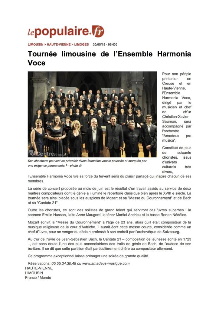 www.lepopulaire.fr - Hau...'Ensemble Harmonia Voce