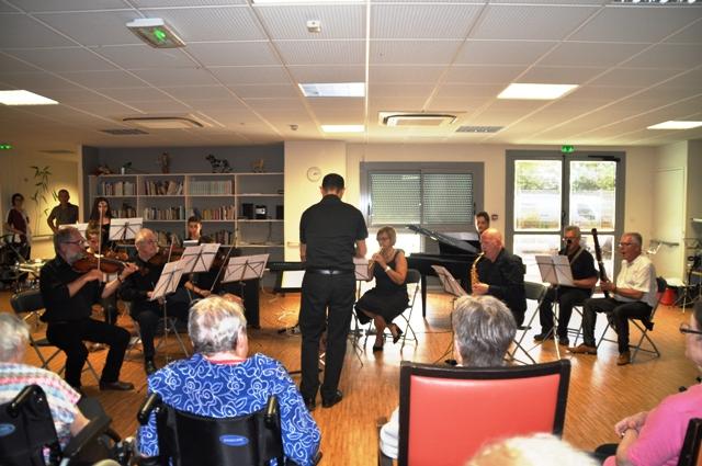 Concert à l'EPADH de LANDOUGE à l'invitation de la MUTUALITE FRANCAISE LIMOUSINE
