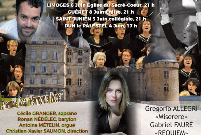 Quatre concerts en Limousin d'Harmonia Voce.